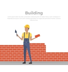 Building banner web design flat vector