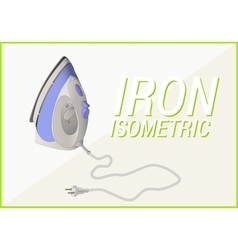 Smoothing-iron isometric 3d vector
