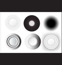 Abstract circle white set design vector