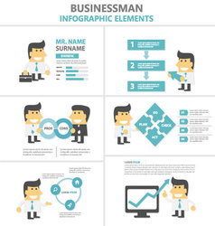 Business activity Infographic elements templates vector image