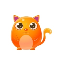 Cat baby animal in girly sweet style vector