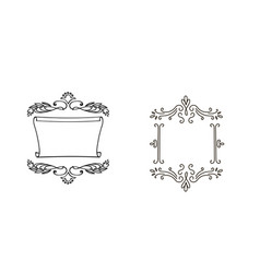 decorative doodle frames for your design vector image vector image