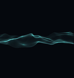 digital flow of particles abstract wave vector image vector image