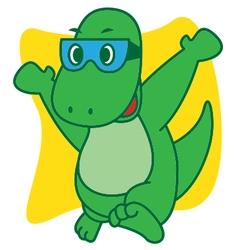 Dinosaur Happy vector image vector image