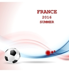 Euro football championship in france vector