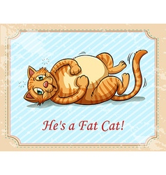 Fat cat vector image