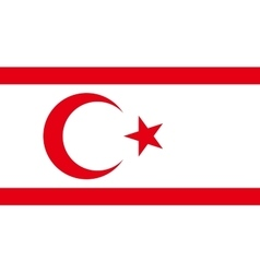 Flag of northern cyprus correct size colors vector