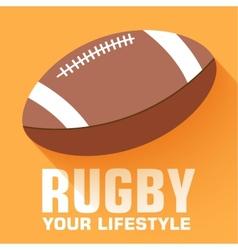 Flat sport rugby background concept design vector image