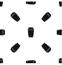 Flip lid bin pattern seamless black vector
