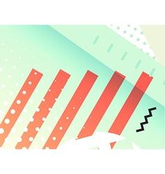 Geometric symbols background vector image vector image