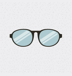 Glasses fashion isolated icon vector