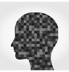 Head a mosaic vector image vector image