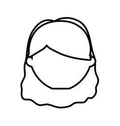 head female girl line vector image vector image