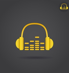 Headphone with eq icon vector image