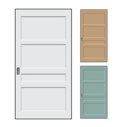 isolated doors - vector image