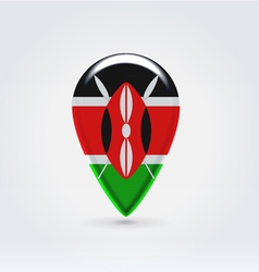 Kenyan icon point for map vector image vector image