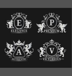 Monogram logo templatesluxury letters vector
