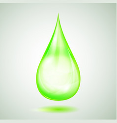 One big green drop vector