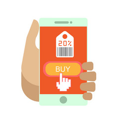 Online shopping payment smartphone flat vector