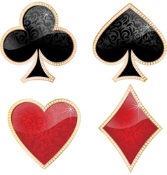 Playing card decorated with brilliants and texture vector image vector image