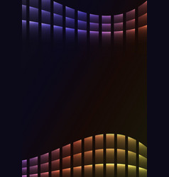 Rainbow abstract pixel curve background vector