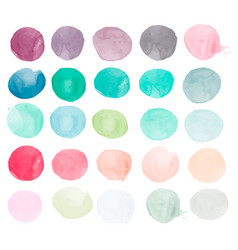 set of watercolor shapes watercolor blobs vector image