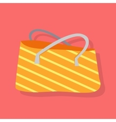 Striped Summer Beach Bag vector image