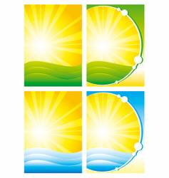 summer backgrounds vector image
