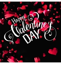 Valentines day lettering greeting card vector image