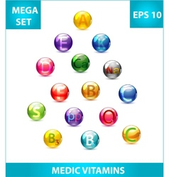 vitamins set vector image
