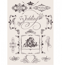 Wedding decoration vector