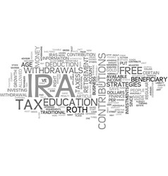 Which ira is best for you text word cloud concept vector