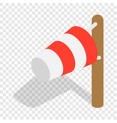 windsock isometric icon vector image
