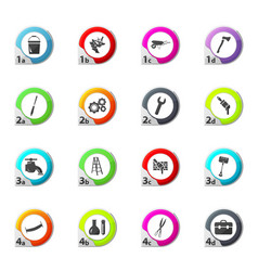 Work tools icons set vector