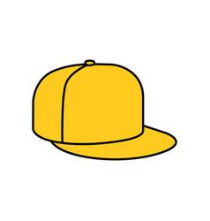 yellow rap cap icon vector image