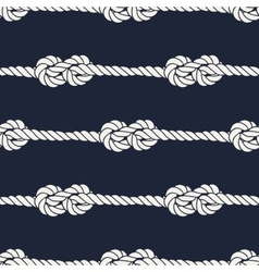 Seamless nautical rope pattern - figure 8 knots vector