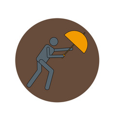 In flat design of man with vector
