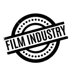 Film industry rubber stamp vector
