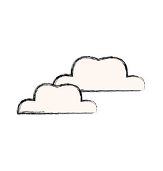 Cloud weather climate sky icon vector