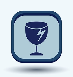 Fragile glass symbol logistics icon vector