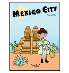 Mexico city vector image