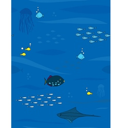sea and fishes vector image