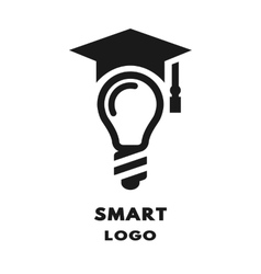 Lamp with academic cap vector