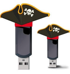 Pirate usb flash drive vector