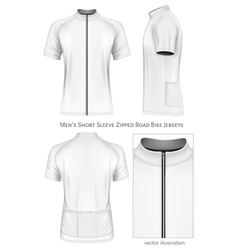 Short sleeve cycling jersey for men vector image
