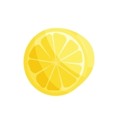 Yellow lemon slice icon cartoon style vector