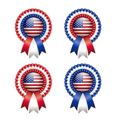 American rosettes vector