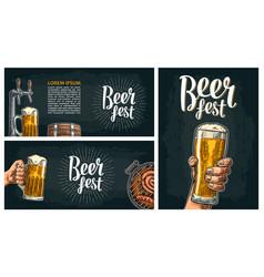 Beer tap vintage engraving vector
