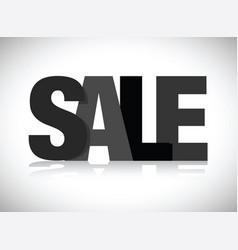 Black sale sign vector
