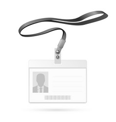 blank badge vector image
